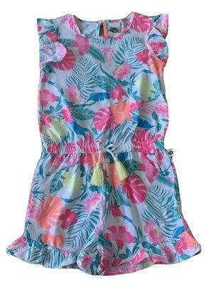 Girls size 5 PIPING HOT jersey playsuit  jumpsuit jump play suit bright NEW
