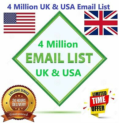 4 Million UK & USA B2B ✔️✔️ Consumer Email List Sales database ✔️✔️