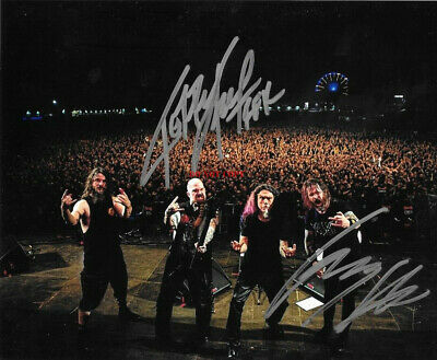 SLAYER signed autographed 8x10 photo  KERRY KING & GARY HOLT reprint