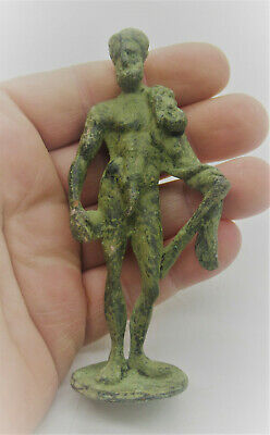 Circa 200 - 300 Ad Ancient Roman Bronze Statuette Of A Young God Rare