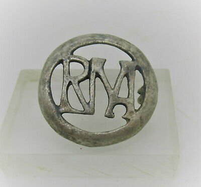 Detector Finds Ancient Roman Silver Military Openwork Brooch 'Rna' 300-400Ad