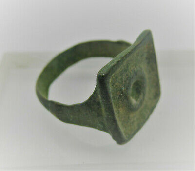 Detector Finds Ancient Saxon Bronze Signet Ring With Evil Eye Motif