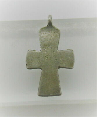 Beautiful Ancient Byzantine Silver Crusaders Cross Pendant Wearable