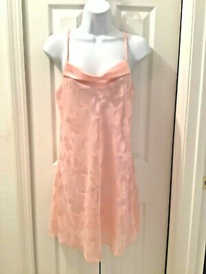 MORGAN TAYLOR INTIMATES Womens Camisole Night Gown Peach Floral Size Small