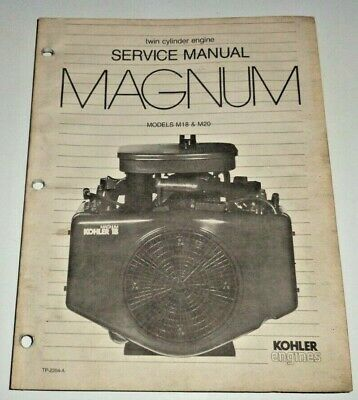 Kohler Magnum M18 M20 Engine Service Repair Shop Overhaul Manual Original! 2-cyl