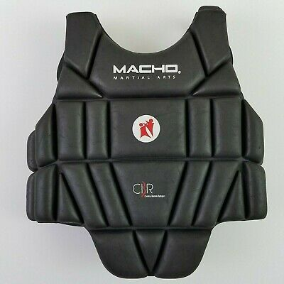 Unisex Padded Karate Chest Guard Martial Arts Sparring Body Protector Shield