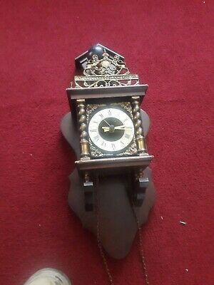 Vintage Dutch Rich Man Wall Clock For Spares Only