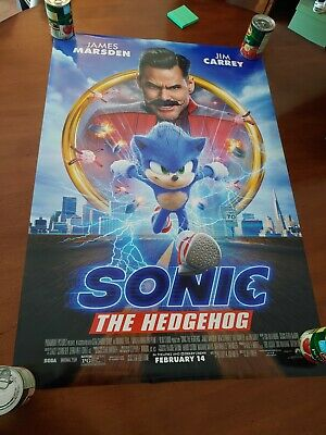 """Sonic The Hedgehog Official Double Sided Movie Poster 27"""" x 40"""""""