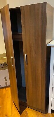 Wardrobe - single, dark oak-effect, used but good condition.