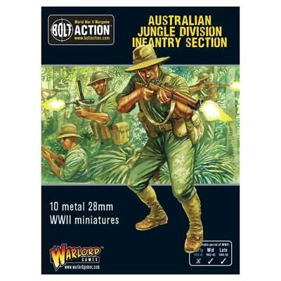 Warlord Bolt Action Aussie 28 Australian Jungle Division Infantry Sect Box MINT