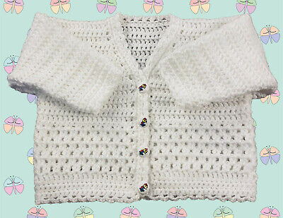 1018 Sizes: 3 Months - 6 Years Baby Crochet Pattern for Cardigan DK