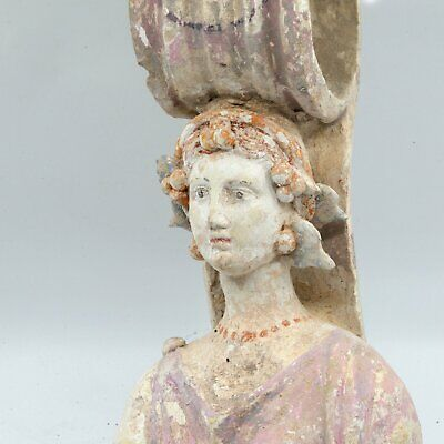 * A Greek Terracotta Votive Goddess, Classical Period, ca. 4th century BCE
