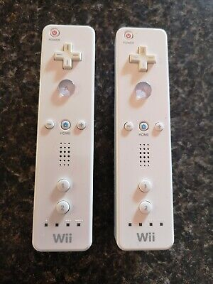 Official Nintendo Wii Remote Controllers Lot Of 2 RVL-003 Tested!