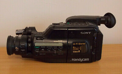 Sony Handycam Video 8 CCD-F550E Faulty Spares Repair Camcorder with Camera Bag