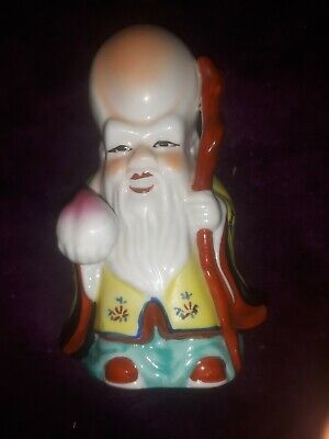 Chinese Porcelain Immortal Scholar Statue