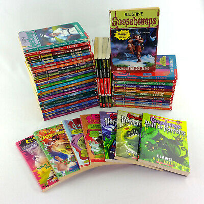 Lot 47 Goosebumps Books RL Stine Horror Chapter Series Vintage 90s 2000s Set