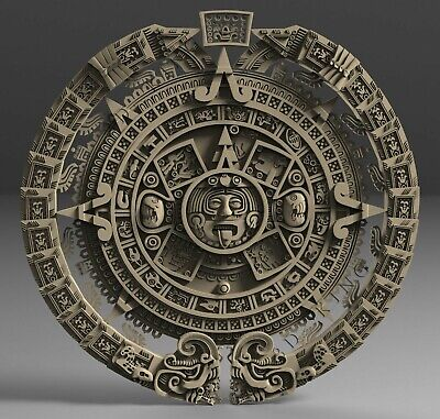 STL 3D Model # THE MAYA CALENDAR #  for CNC Aspire Artcam 3D Printer 3D MAX