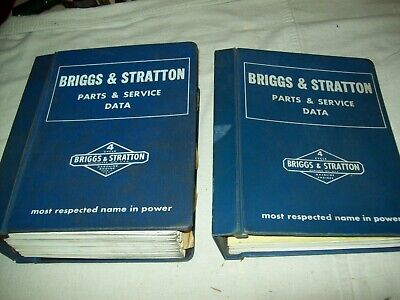 2 Briggs and Stratton Parts and Service Data Repair Instructions Manuals