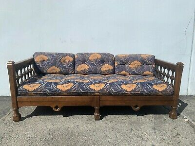 Chesterfield Sofa Antique Drexel Fabric Mid Century Modern Couch Moroccan Lounge