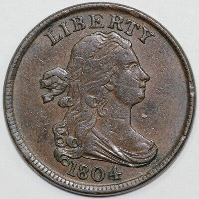 1804 1/2c Draped Bust Half Cent With Grellman Tag