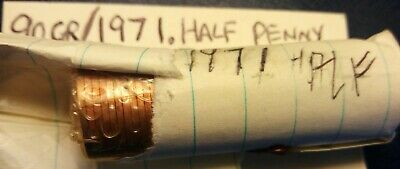 1971 half penny Sealed Roll Free Post
