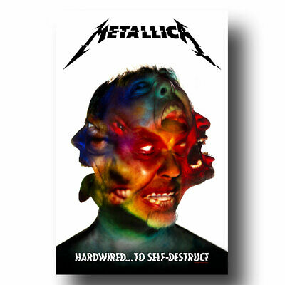 """by Blunt Graffix /""""Hard Wired to Self-Destruct Metallica Band Poster 18 x 24 In"""