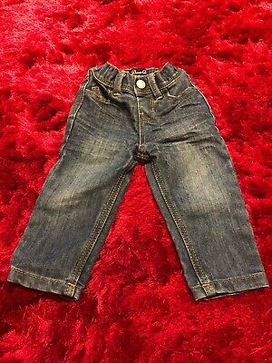 Denim Co blue denim jeans trousers baby boys 9-12 months