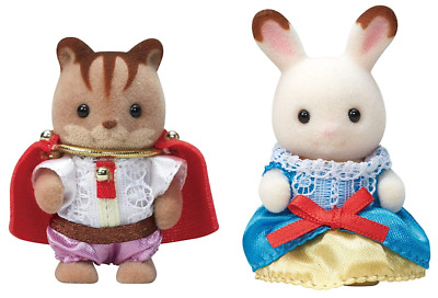 EPOCH Sylvanian Families 35th Anniversary Baby Pair Set Princess & Prince Japan