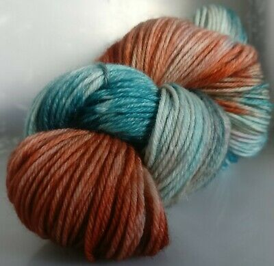175g OF DK HAND-DYED 100% PURE BRITISH KNITTING WOOL, 2 SKEINS * CW: JANELL