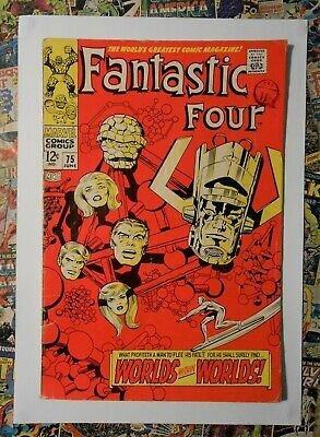 Fantastic Four #75 - Jun 1968 - Silver Surfer Appearance! - Vg (4.0) Cents Copy!