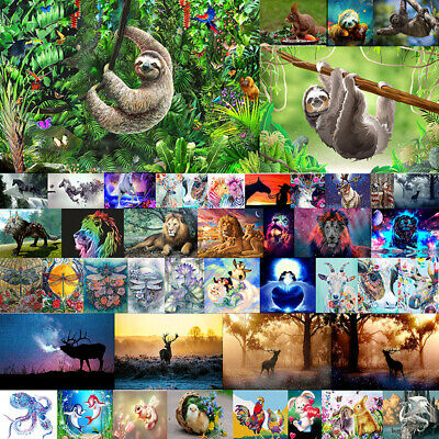Sloth Full Drill DIY 5D Diamond Embroidery Painting Cross Stitch Mural Room UK
