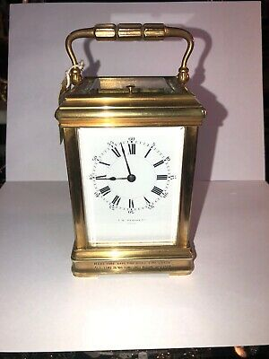Antique French Ormolu carriage Clock By J.W Benson London