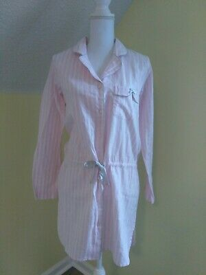 Victorias Secret NEW Cotton Night Gown Sleep Shirt Pajamas. Pink Striped size XS