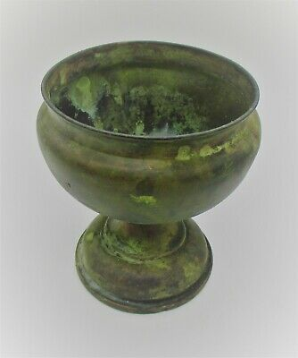 Detector Finds Ca 100Bc-100Ad Ancient Celtic Bronze Chalice Cup Vessel Rare