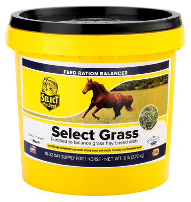 """Equine Balanced Daily Supplement For Horses On Grass Hay """"Select Grass"""" 6 Lbs."""