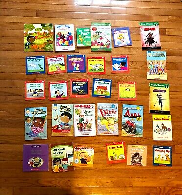 Lot of 26 Children's Kids Books Early Readers Beginning Scholastic Learn to Read