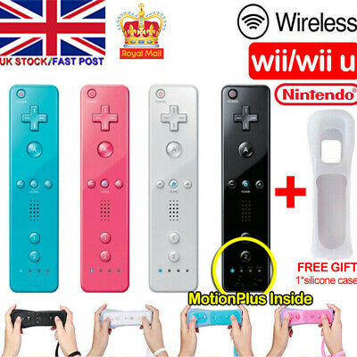Brand New Remote Controller For Nintendo Wii & Wii U + Silicone + Strap Uk Stock