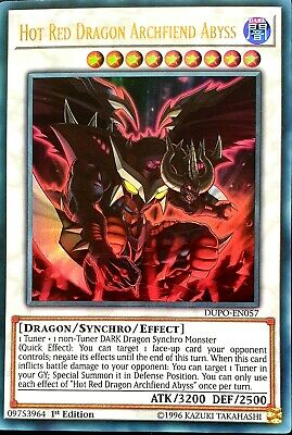Hot Red Dragon Archfiend Abyss DUPO-EN057 Ultra Rare 1st Ed Mint Yugioh