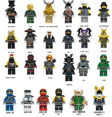 Ninjago Mini Figures Wu Master/Jay/Kai/Sensei/Blocks fit all building blocks UK