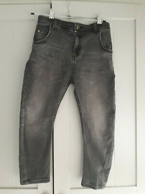 River Island BNWT Boys Skinny Fit Distressed Grey Jeans Trousers Age 6 Years