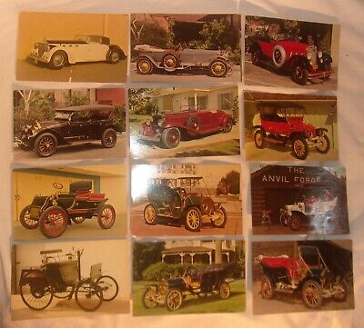 Lot Of 48 Vintage Pennzoil Postcards With Old Cars On The Front Never Used