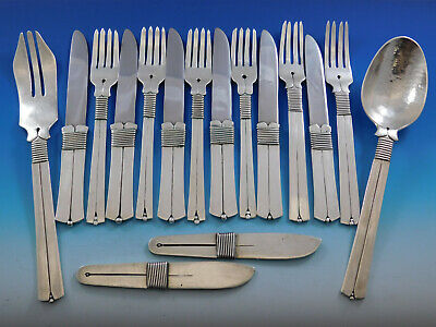 Silver Thread by William Spratling Mexico Sterling Silver Flatware Set 16 pcs