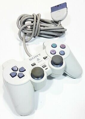 Original Sony PLAYSTATION One Dualshock Analogue Controller SCPH-110 White