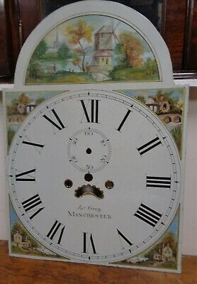 Grandfather / Longcase Clock Fance, Hand Painted, Jas Gray Manchester