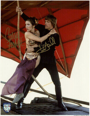 CARRIE FISHER MARK HAMILL DUAL SIGNED 11x14 PHOTO STAR WARS OPX RARE BECKETT BAS