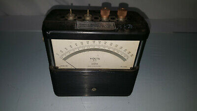 Vintage Weston Volts DC Meter Western Electric College Gift Plan RARE !