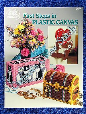 First Steps in Plastic Canvas Booklet Needlepoint Patterns Step By Step Learn