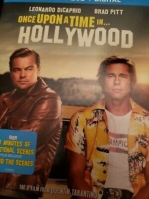 Once Upon a Time in Hollywood Dvd + Blu Ray like new Tarantino no digital copy