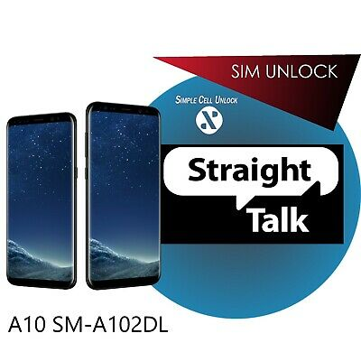 Samsung A10 Sm-S102Dl Remote Unlock Carrier Service Tracfone / Straight Talk