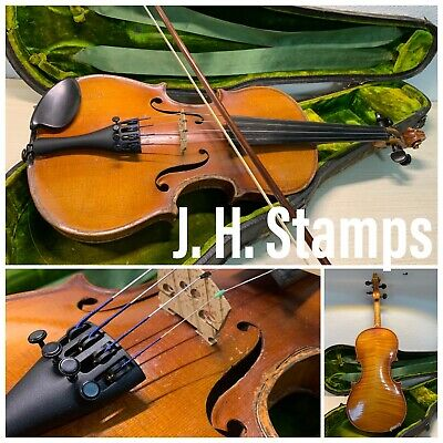 American 1/2 Student Violin J.H. Stamps Fort Worth Signed Inside 20's~40's Works